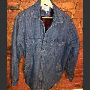 Cozy Denim/Flannel Button Up Jacket
